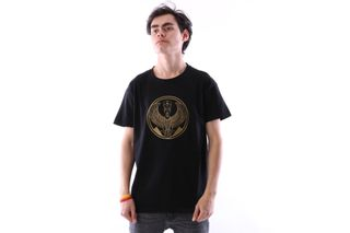 Foto van Pharaoh Official T-Shirt Gold On Black Zwart