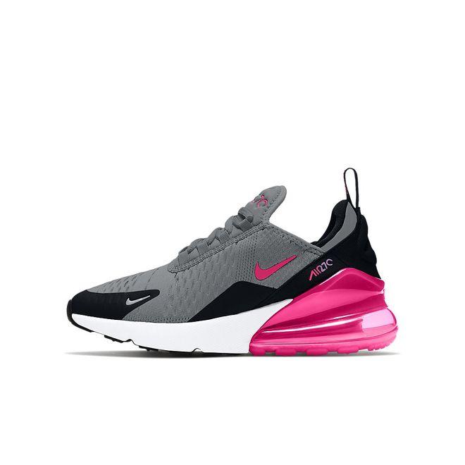 Afbeelding van Nike Air Max 270 Big Kids Smoke Grey Hyper Pink