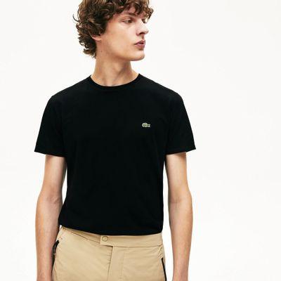 Foto van Lacoste T-shirt met Ronde Hals Black