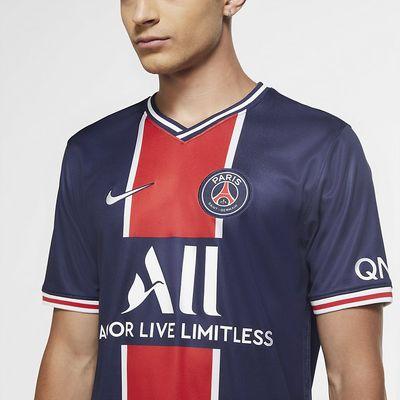 Foto van Paris Saint-Germain 2020/21 Stadium Thuis Voetbalshirt voor heren