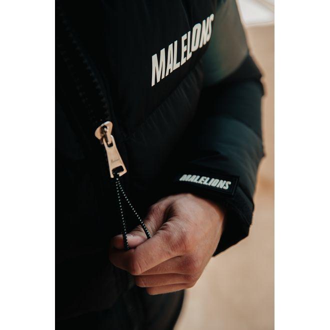 Afbeelding van Malelions Reflective Puffer Jacket Black