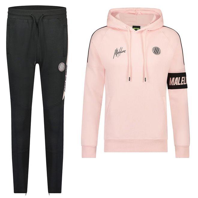 Afbeelding van Malelions Sport Coach Hoodie Set Pink Antra