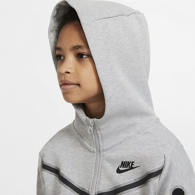 Afbeelding van Nike Sportswear Tech Fleece Hoodie Kids Dark Grey Heather
