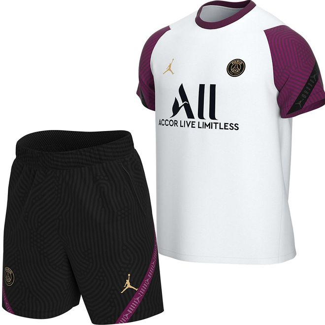 Afbeelding van PSG Strike Short Set White Bordeaux