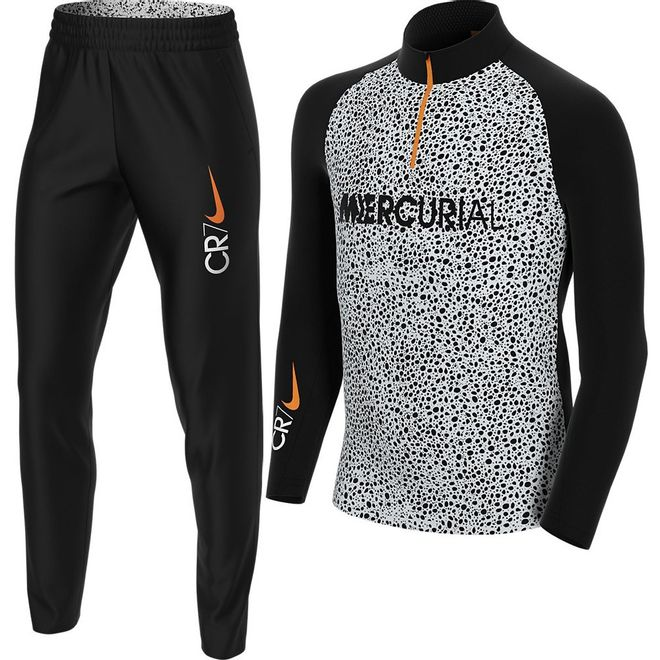 Afbeelding van Nike Dry Fit Academy trainingsset Kids CR7 Black White