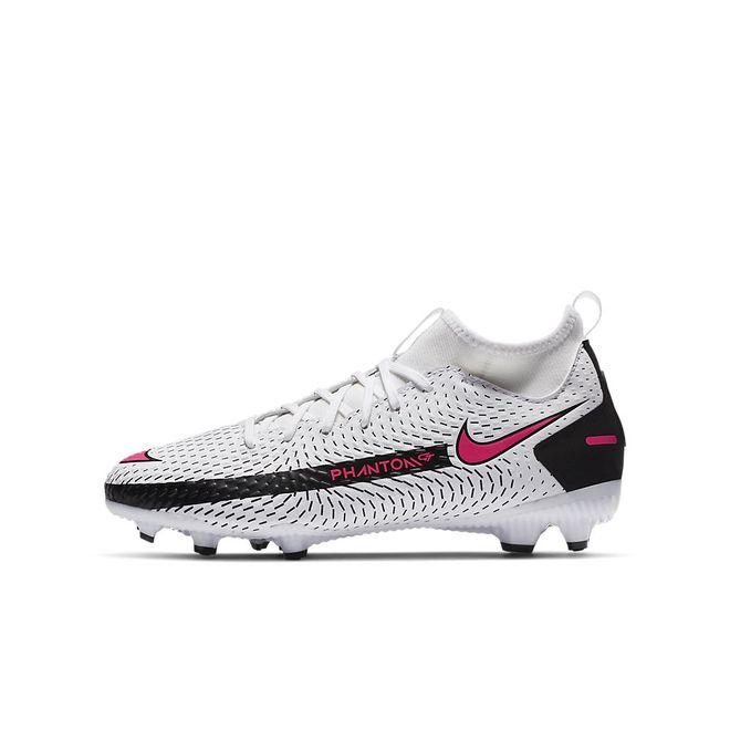 Afbeelding van Nike Phantom GT Academy Dynamic Fit FG Kids White Pink