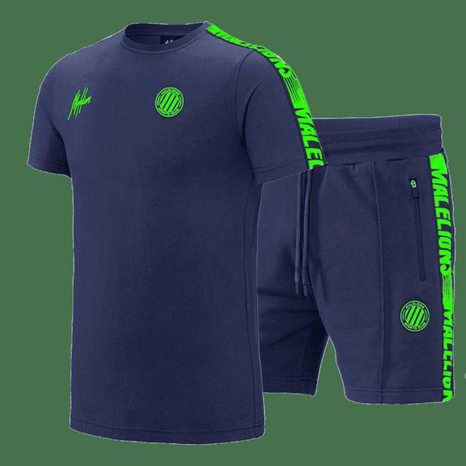 Afbeelding van Malelions Twinset Home kit Sport Navy Green