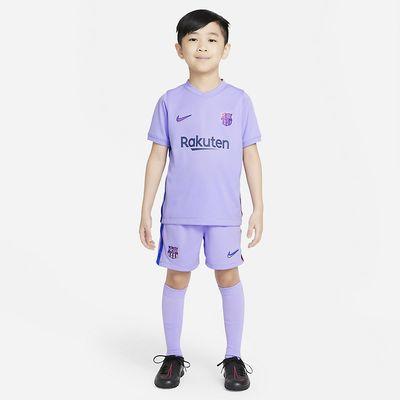 Foto van FC Barcelona voetbal Tenue voor Kleuters 2021/22 Away Purple Pulse