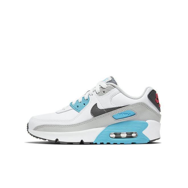 Afbeelding van Nike Air Max 90 Kids Leather White Iron Grey