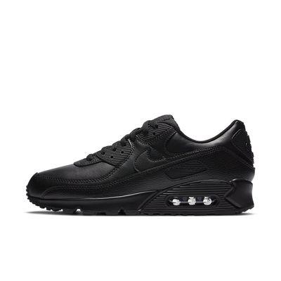 Foto van Nike Air Max 90 Black Leather Triple Black