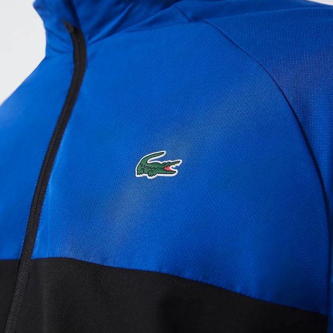 Afbeelding van Lacoste Sport Trainingspak Zwart Blauw