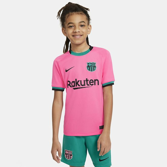 Afbeelding van FC Barcelona 2020/21 Stadium Derde Voetbalshirt Kids Pink