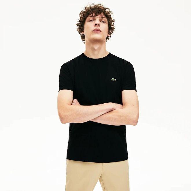 Afbeelding van Lacoste T-shirt met Ronde Hals Black