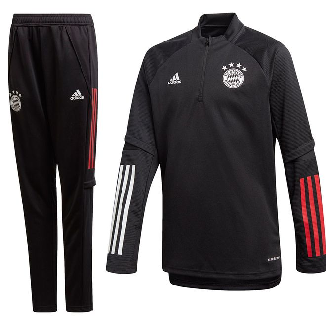 Afbeelding van FC Bayern München Trainingsset Kids Black