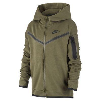 Foto van Nike Sportswear Tech Fleece Hoodie Kids Cargo Khaki