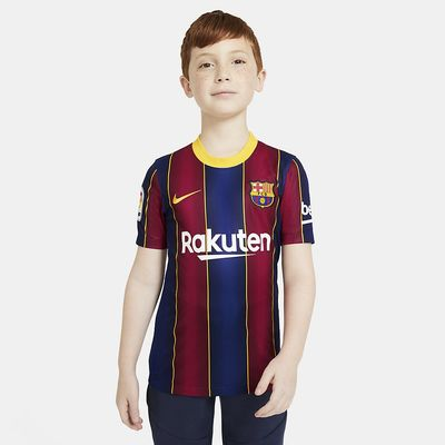 Foto van FC Barcelona 2020/21 Stadium Thuis Voetbalshirt Kids