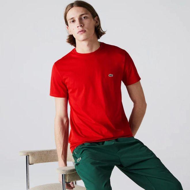 Afbeelding van Lacoste T-shirt met Ronde Hals Rouge