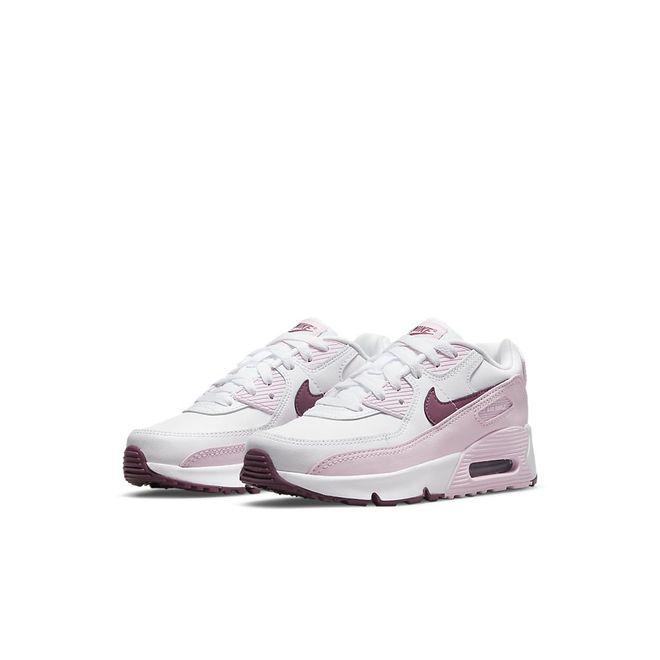 Afbeelding van Nike Air Max 90 Leather Little Kids White Pink Foam