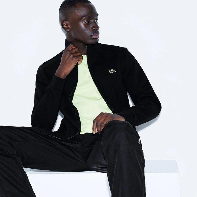 Afbeelding van Lacoste Molton Sweater met Rits Zwart