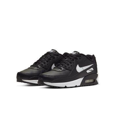 Foto van Nike Air Max 90 Kids Leather Black White