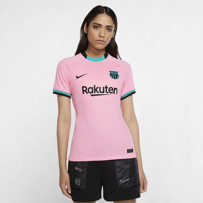 Afbeelding van FC Barcelona 2020/21 Stadium Derde Voetbalshirt Dames Pink