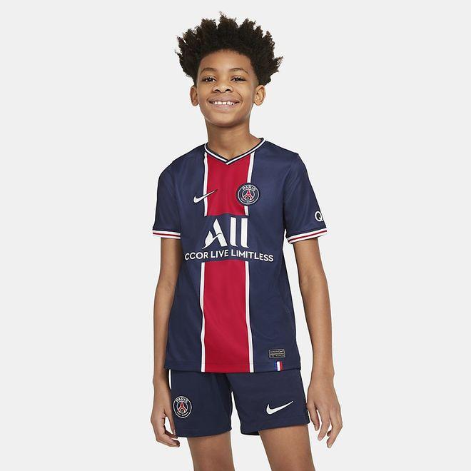 Afbeelding van Paris Saint-Germain 2020/21 Stadium Thuis Voetbalshirt voor Kids