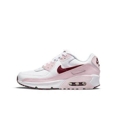 Foto van Nike Air Max 90 Kids Leather White Pink Foam