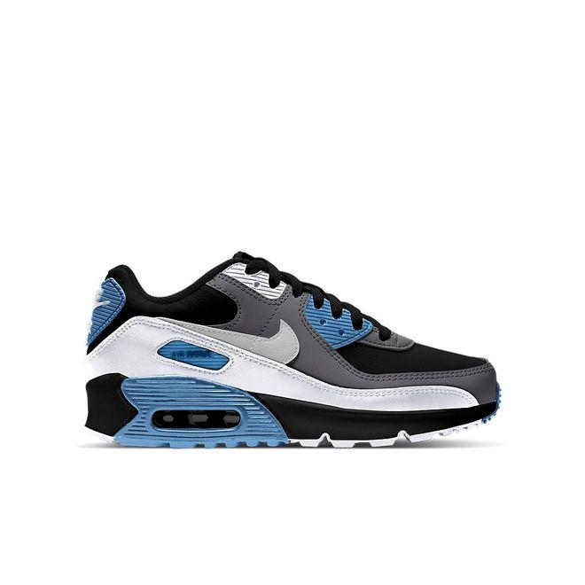 Afbeelding van Nike Air Max 90 Kids Leather Black Neutral Grey