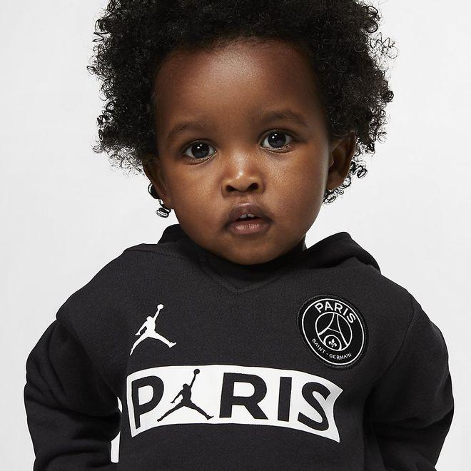 Afbeelding van PSG Babyset met Hoodie en Joggingbroek Black
