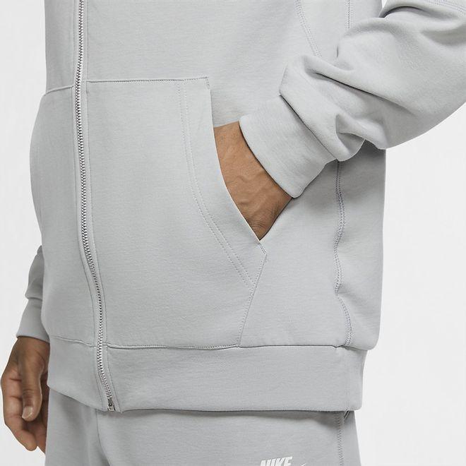 Afbeelding van Nike Sportswear Club Full-Zip Jersey Hoodie Lite Smoke Grey