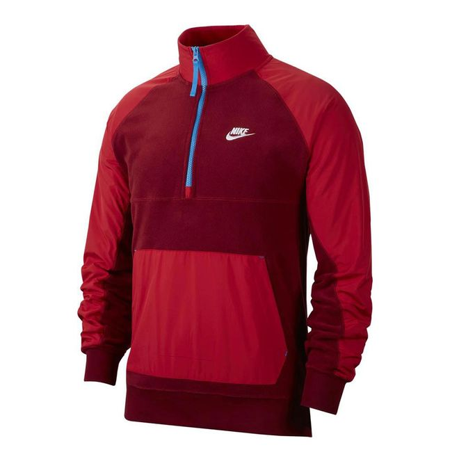 Afbeelding van Nike Sportswear Zipper Shirt Team Red