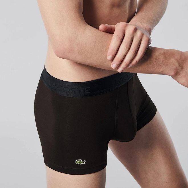 Afbeelding van Lacoste Set van 3 korte boxers Casual Zwart
