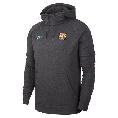 Foto van FC Barcelona Fleece Hoodie Anthracite Dark Grey