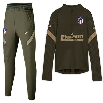 Foto van Atlético de Madrid Dri-FIT Strike Drill Set Kids Cargo Khaki