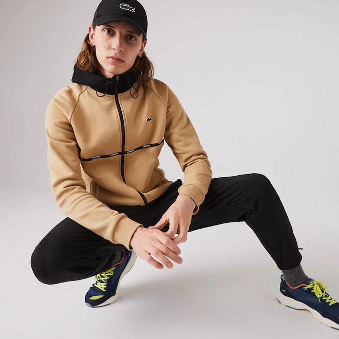 Afbeelding van Lacoste Sport Hooded Vest Beige