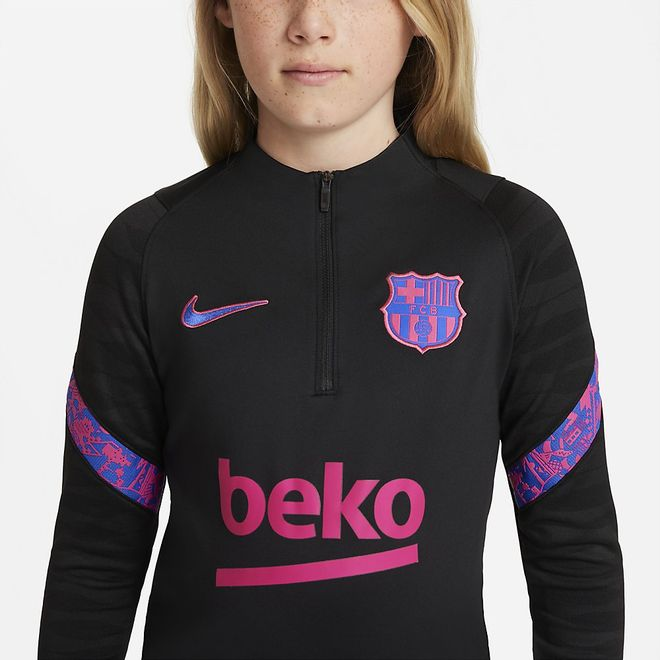 Afbeelding van FC Barcelona Dri-FIT Strike Set Kids Balck Hyper Royal
