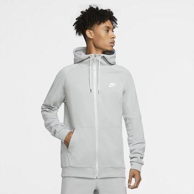 Foto van Nike Sportswear Club Full-Zip Jersey Hoodie Lite Smoke Grey