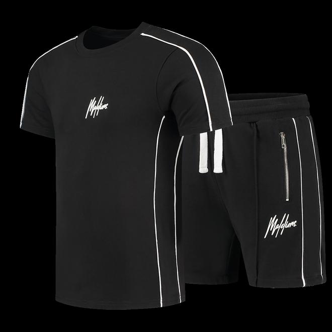 Afbeelding van Malelions Sport Thies Summer Set Black White
