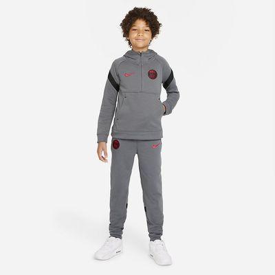 Foto van Paris Saint-Germain Hooded Flee Set Kids Dark Grey