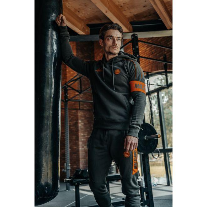 Afbeelding van Malelions Sport Coach Hoodie Set Army Orange