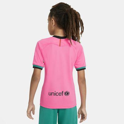 Foto van FC Barcelona 2020/21 Stadium Derde Voetbalshirt Kids Pink