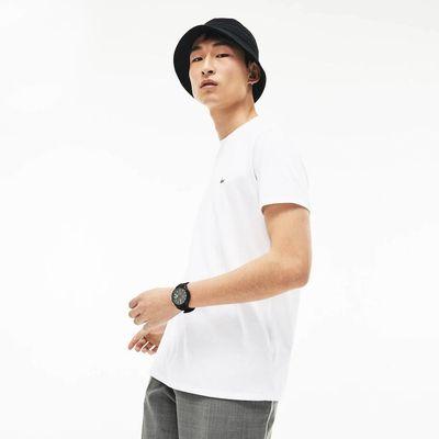 Foto van Lacoste T-shirt met Ronde Hals Wit