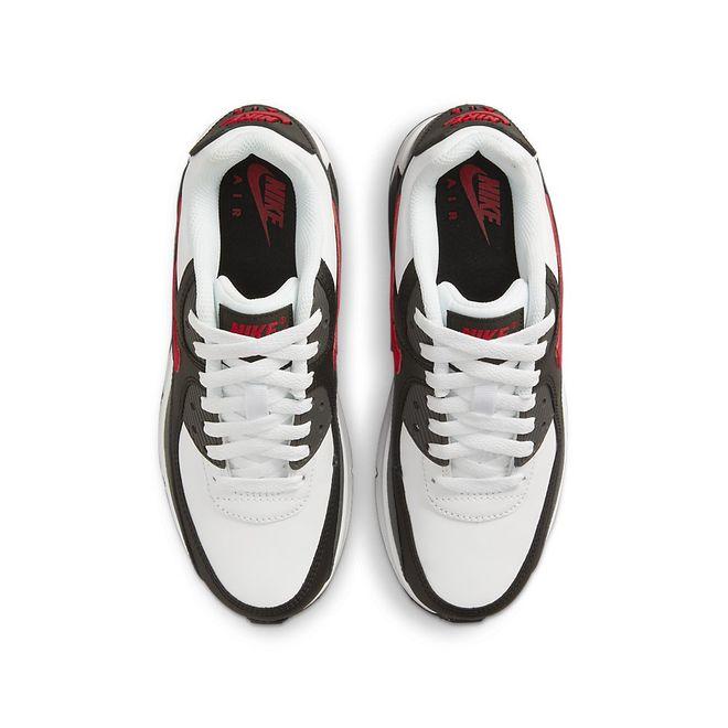Afbeelding van Nike Air Max 90 Kids Leather White Red