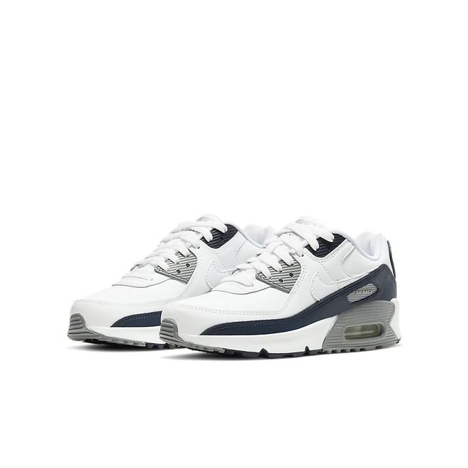 Afbeelding van Nike Air Max 90 Kids Leather White Grey