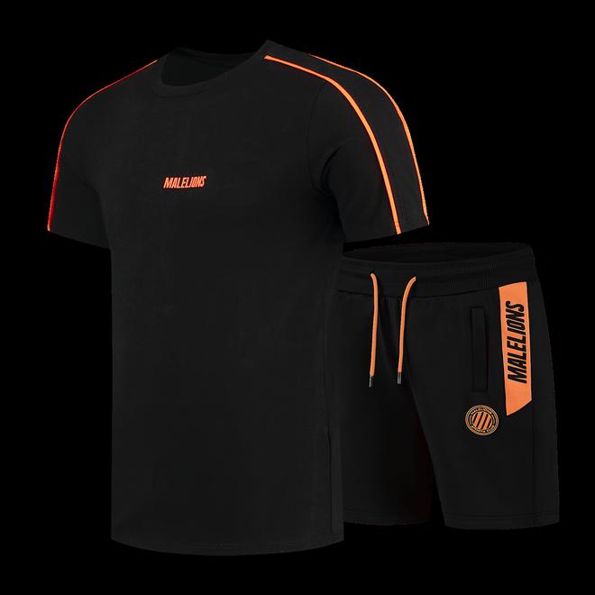 Afbeelding van Malelions Sport Coach Set Black Neon Orange