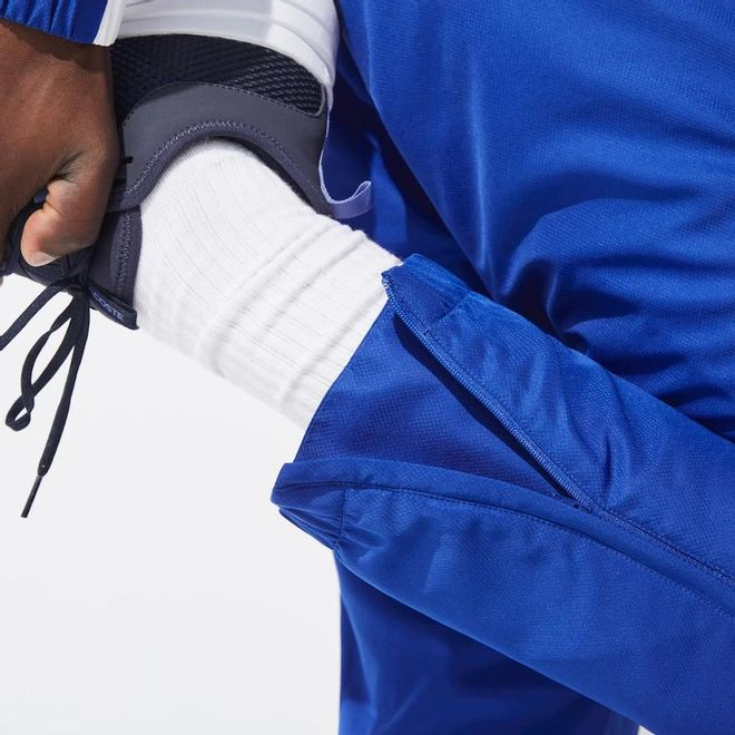 Afbeelding van Lacoste Sport Trainingspak Blauw Wit