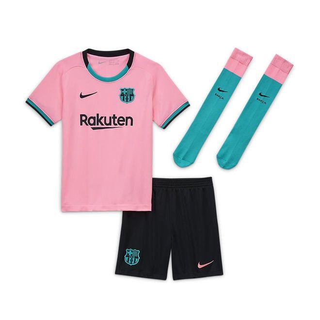 Afbeelding van FC Barcelona 2020/21 Stadium Derde Minikit Kids Pink