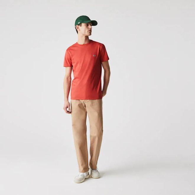 Afbeelding van Lacoste T-shirt met Ronde Hals Red