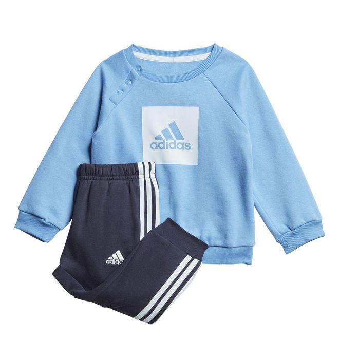 Afbeelding van Adidas 3-Stripes Fleece Joggingpak Infants Lucky Blue