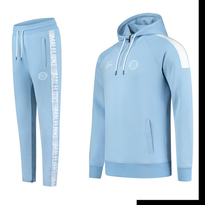 Afbeelding van Malelions Sport Striker Hoodie Set Light Blue
